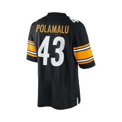 Pittsburgh Steelers Troy Polamalu Black Jersey  72b05802d