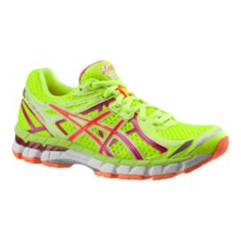ASICS Women's GT-2000 2 Running Shoes - Lime Green/Berry Purple