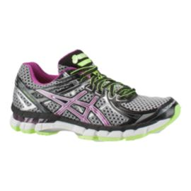 ASICS Women's GT-2000 2 Running Shoes - Silver/Purple/Green