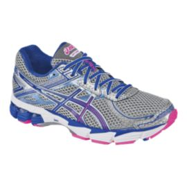 ASICS Women's GT-1000 2 Running Shoes - Silver/Blue/Pink
