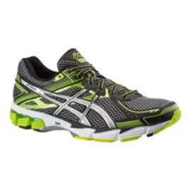 ASICS Men's GT 1000 2 Running Shoes - Black/Green