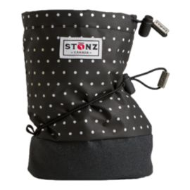 Stonz Toddler Girls Black & White Polka Dot Winter Booties - Black/White