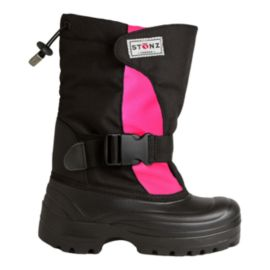 Stonz Toddler Girls' Bootz Winter Boots - Pink/Black