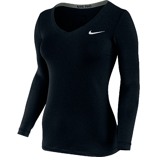 4c0bf9c3 Nike Pro Long Sleeve Women's V-Neck Top   Sport Chek