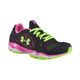 Under Armour Women's Micro G Pulse TR Training Shoes - Black/Green/Pink