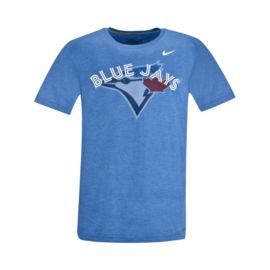 Toronto Blue Jays TB Wordmark Logo Tee - Blue