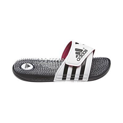 adidas donne adissage bianco / nero / dissolvenza slide sandali rosa