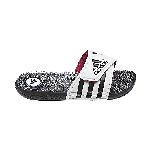 877103183 adidas Women s Adissage Fade Slide Sandals - White Black Pink ...