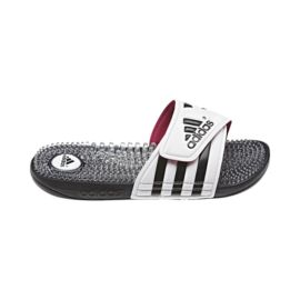 adidas Women s Adissage Fade Slide Sandals - White Black Pink ... 7c06aef1a
