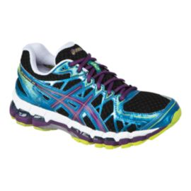 ASICS Women's Gel Kayano 20 Running Shoes - Black/Blue/Purple