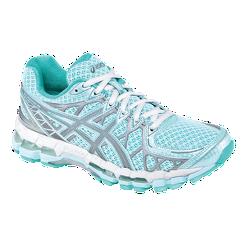 ASICS Women s Gel Kayano 20 LS Running Shoes - Light Blue White Grey ... 3091b419c864