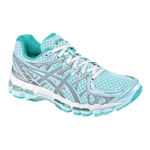 reputable site 4b0af 299f7 ASICS Women s Gel Kayano 20 LS Running Shoes - Light Blue White Grey    Sport Chek