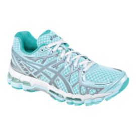 ASICS Women's Gel Kayano 20 LS Running Shoes - Light Blue/White/Grey