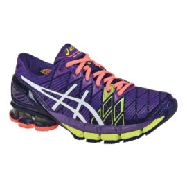 ASICS Women's Gel Kinsei 5 Running Shoes - Purple/Yellow/White