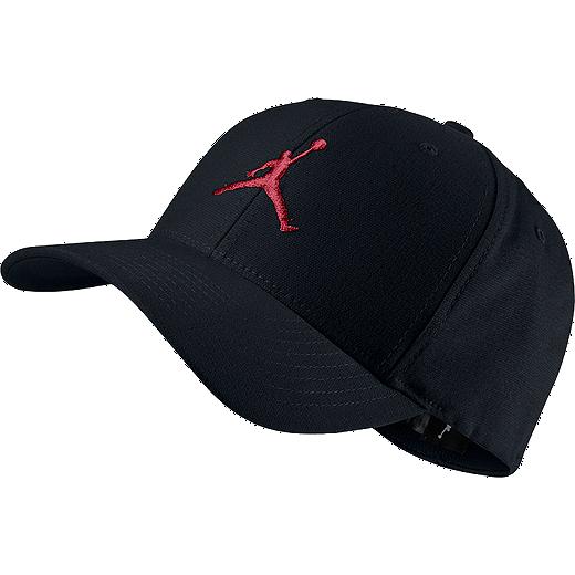 nike air jordan mens flexfit cap 010 black gym red