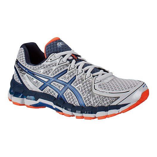 info for 4c7a1 e0c33 ASICS Men s Gel Kayano 20 Running Shoes - White Blue Orange   Sport Chek