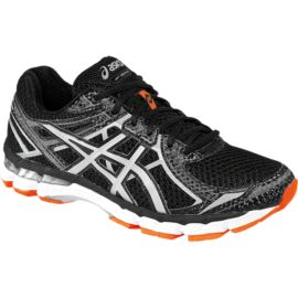 ASICS Men's GT 2000 2 LS Running Shoes - Black/White/Orange