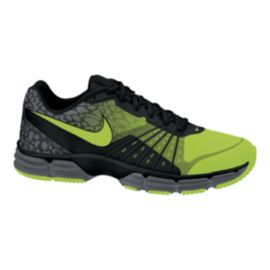 Nike Men's Dual Fusion TR 5 Premium Training Shoes - Black/Volt Green/Grey