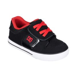 DC Pure V Boys' Athletic Shoes - Black / Grey / Red