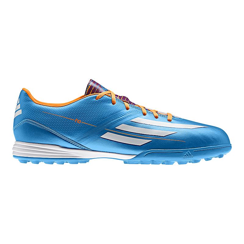 850b83fe7 adidas Men s F10 Turf Indoor Soccer Shoes - Blue Orange White ...