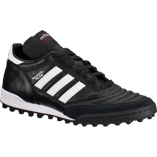 adidas Mens Mundial Team Turf Indoor Soccer Shoes  Black White