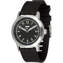 Vestal Alpha Bravo Rubber Watch - Black Silver