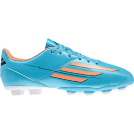 adidas Women's F5 TRX FG Outdoor Soccer Cleats - Blue/Orange/White