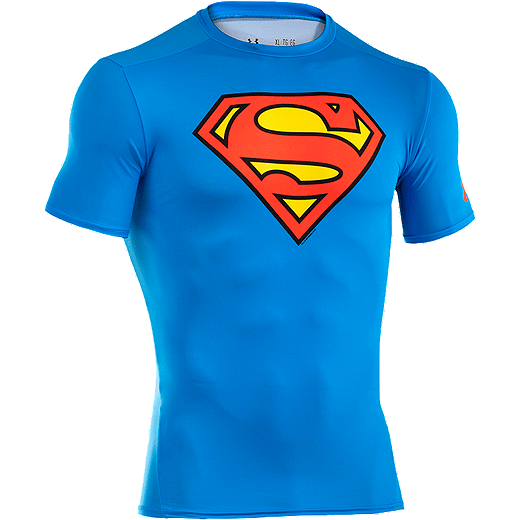 e8615db1 Under Armour Transform Yourself Superman Men's Classic Compression Short  Sleeve Top - RYL/RED 401