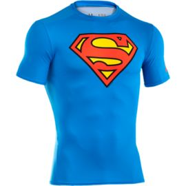 Under Armour Transform Yourself Superman Men's Classic Compression Short Sleeve Top