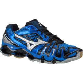 Mizuno Men's Wave Tornado 8 Indoor Court Shoes - Blue/Black/Silver
