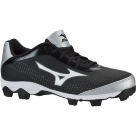 Mizuno Women's 9 Spike Finch Franchise 7 Low Cut Baseball Cleats - Black/Silver