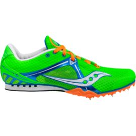 Saucony Men's Velocity 5 Track & Field Shoes - Green/Orange