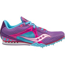 Saucony Women's Velocity 5 Track & Field Running Shoes - Purple/Pink/Blue