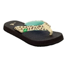 Sanuk Girls' Yoga Wildlife Sandals - Cheetah