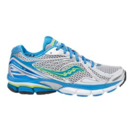 Saucony Women's PowerGrid Hurricane 15 Running Shoes - White/Blue