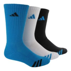 adidas Cushioned 3-Stripe Men's Crew Socks-3-Pack