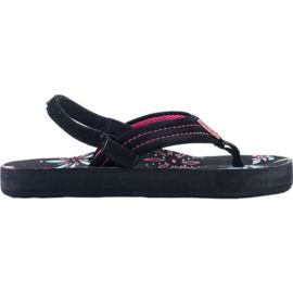 Reef Girls' Little Ahi Sandals - Black/Pink