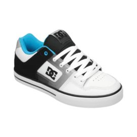DC Men's Pure SE Skate Shoes - White/Black/Blue