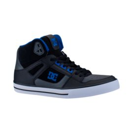 DC Men's Spartan Hi WC Skate Shoes - Black/Grey/Blue