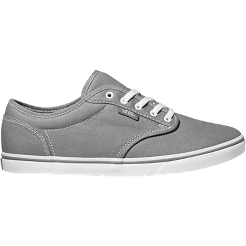 236030c5318047 Vans Women s Atwood Low Canvas Skate Shoes - Pewter White