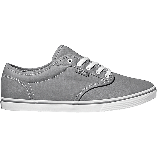 54aa0bdc4a Vans Women s Atwood Low Canvas Skate Shoes - Pewter White