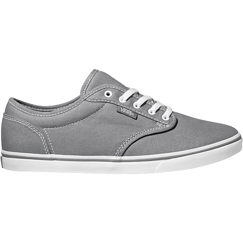 Vans Women s Atwood Low Canvas Skate Shoes - Pewter White  109bdfb778be