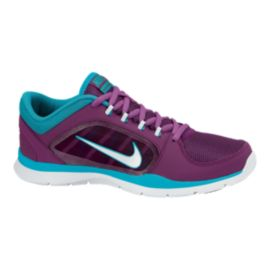 Nike Women's Flex Trainer 4 Training Shoes - Purple/Blue/White