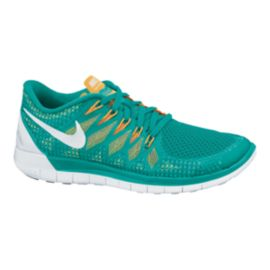 Nike Women's Free 5.0 2014 Running Shoes - Teal Green/Orange/White