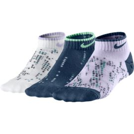 Nike Graphic Low-Cut Girls' Socks - 3 Pair Pack
