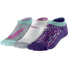 Nike Graphic No-Show Girls' Socks - 3 Pair Pack