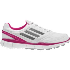 Adidas Women's Golf Adizero Sport 2 Shoes - White/Pink