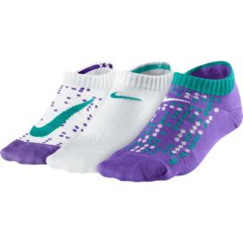 Nike Graphic Lightweight Girls' Low Cut Socks - 3 Pair Pack