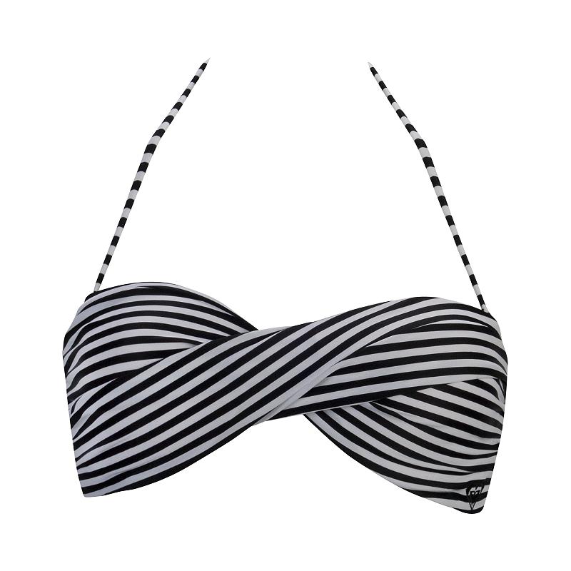 bb08b91cbe4e7 Roxy Sunset Striped Twist Women s Bandeau Swim Top