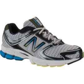 New Balance Mens' 730v2 D Running Shoes - White/Black/Blue